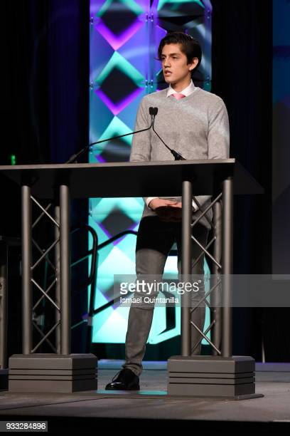 Estevan Aviles speaks onstage at SXSW Gaming Awards during SXSW at Hilton Austin Downtown on March 17 2018 in Austin Texas