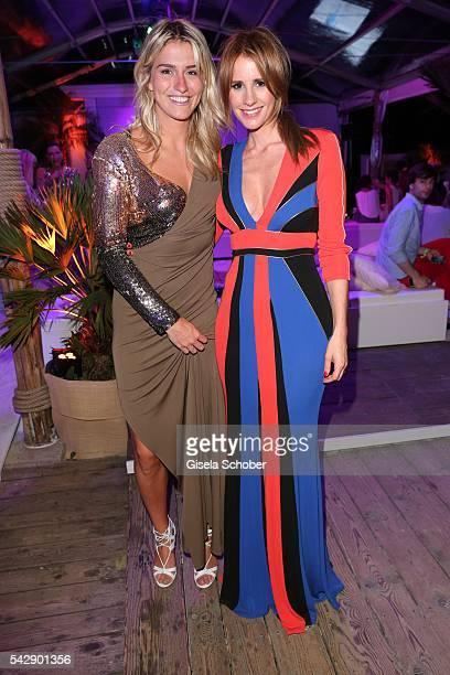 Estevana Polman girlfriend of Rafael van der Vaart and Mareile Hoeppner during the Raffaello Summer Day 2016 to celebrate the 26th anniversary of...