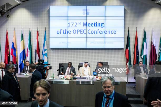 Estevao Pedro left chairman of the board of governors for OPEC Khalid Bin Abdulaziz AlFalih Saudi Arabia's energy minister and president of OPEC...