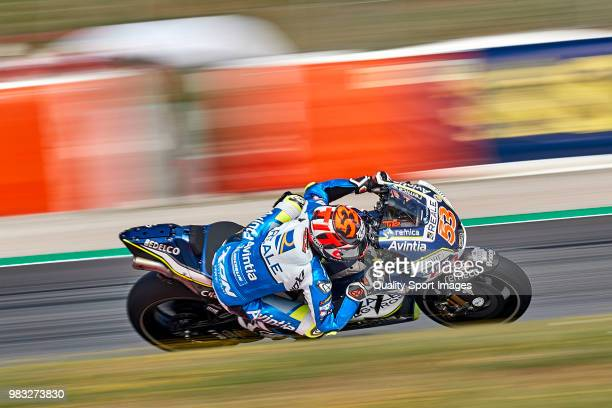 Esteve Rabat of Spain and Reale Avintia Racing rides during free practice for the MotoGP of Catalunya at Circuit de Catalunya on at Circuit de...