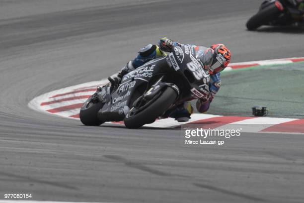 Esteve Rabat of Spain and Reale Avintia Racing rounds the bend during the MotoGP race during the MotoGp of Catalunya Race at Circuit de Catalunya on...