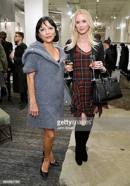 Esthella Provas and Celesta Hodge attend Just One Eye celebration of YEEZY SEASON 1 launch on October 29 2015 in Los Angeles California