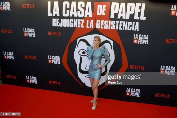 Esther Acebo attends the La Casa De Papel Premiere At Monnaie De Paris on July 15 2019 in Paris France