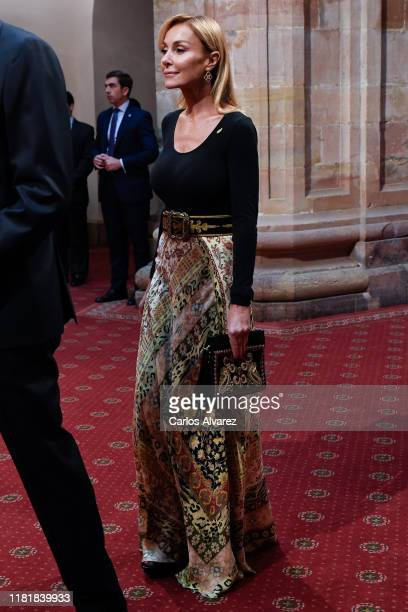Esther Alcocer Koplowitz attends several audiences to congratulate the winners at the Reconquista Hotel during the 'Princesa De Asturias' Awards 2019...