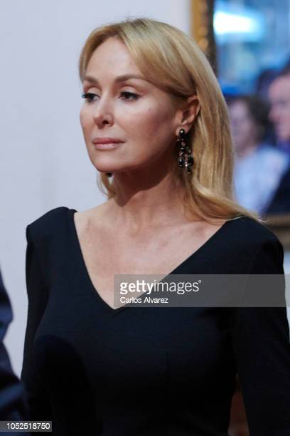 Esther Alcocer Koplowitz attends the deliver of Princess of Asturias awards medals during the Princess of Asturias Award 2018 at the Reconquista...