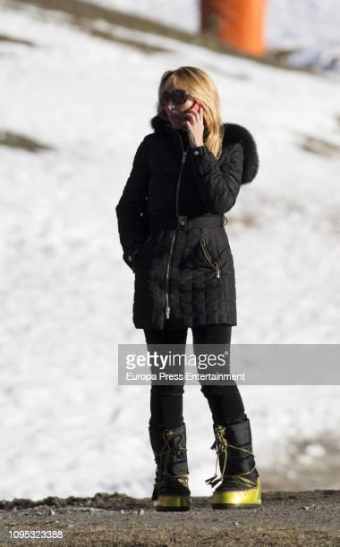 Esther Alcocer Koplowitz is seen on December 6 2018 in Baqueira Beret Spain