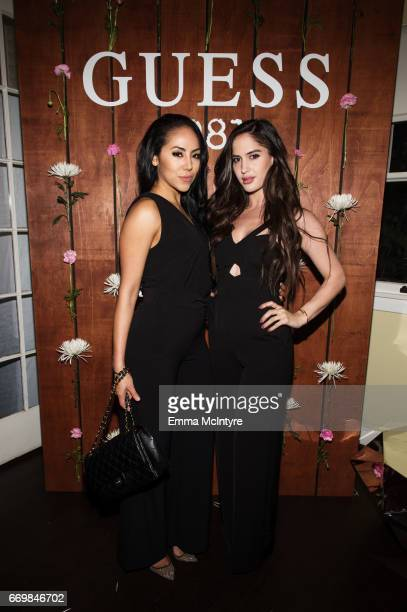 Esther Anaya and Natalia Barulich of Atmsphre attend the Guess 1981 fragrance launch at Chateau Marmont on March 21 2017 in Los Angeles California