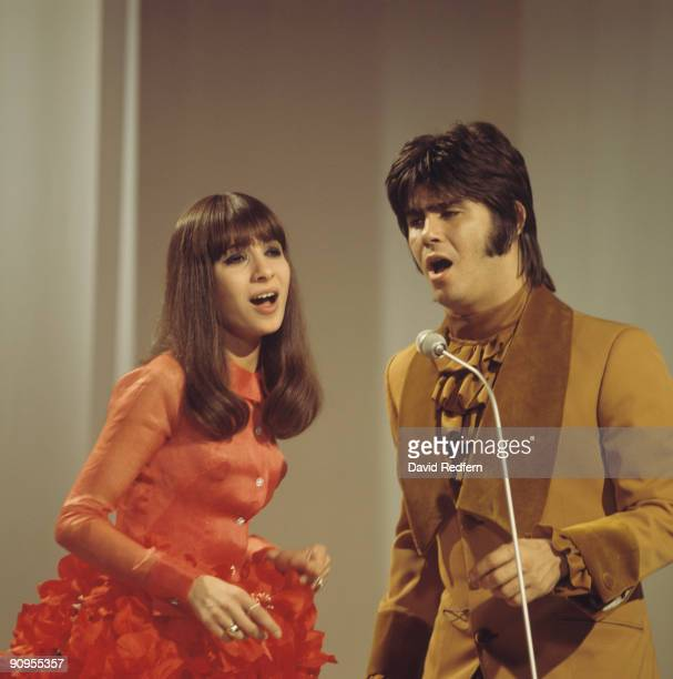 Esther and Abi Ofarim perform on stage circa late 1960's