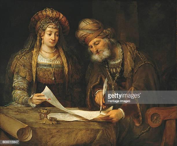 Esther and Mordechai 1675 Found in the collection of Museo Nacional de Bellas Artes de Buenos Aires Artist Gelder Aert de