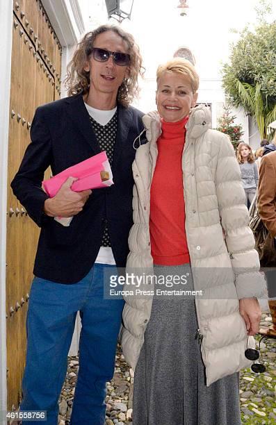 Esther Arroyo and Antonio Navajas are seen on December 21 2014 in Marbella Spain