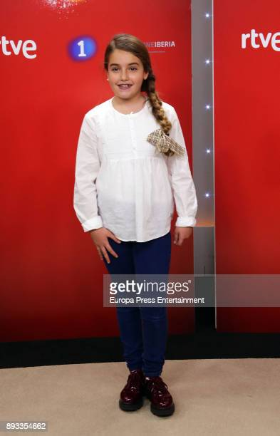 Esther attends the presentation of a new seson of 'Masterchef Junior' at TVE studios on December 14 2017 in Madrid Spain