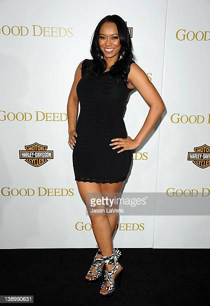 Esther Baxter attends the premiere of Tyler Perry's Good Deeds at Regal Cinemas LA Live on February 14 2012 in Los Angeles California