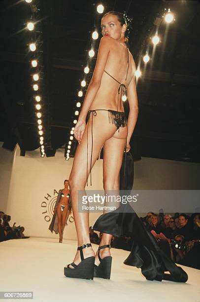 Esther Cañadas models the Todd Oldham Spring '98 collection in New York City 4th November 1997