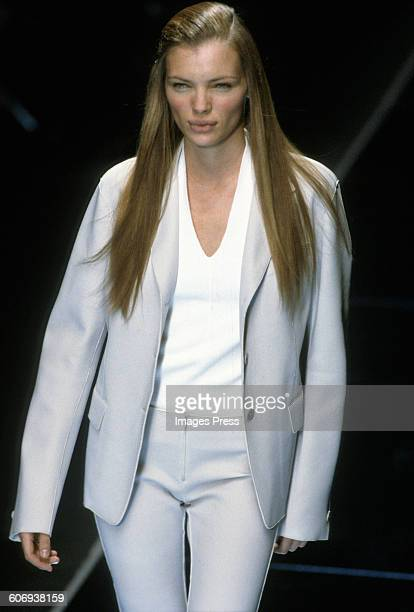 Esther Canadas at the DKNY Fall 1999 show circa 1999 in New York City