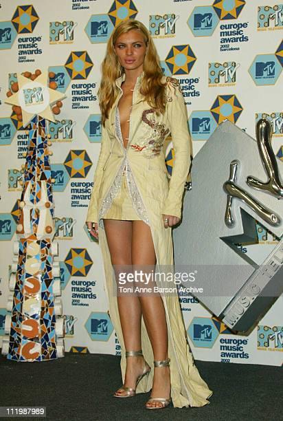 Esther Canadas during 2002 MTV European Music Awards Press Room at Palau Sant Jordi in Barcelona Spain