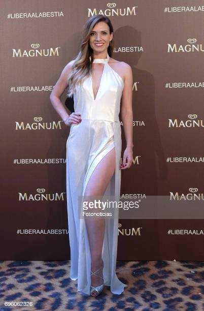 Esther Collado attends the Magnum new campaign presentation party at the Palacete de Fortuny on June 14 2017 in Madrid Spain