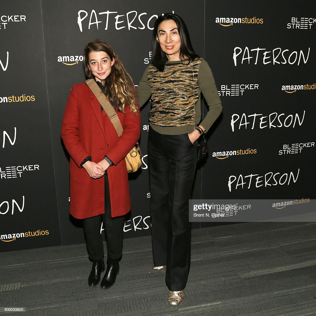 Esther Coquet (L) and artist Anh Duong attend the 'Paterson' New York screening held at the Landmark Sunshine Cinema on December 15, 2016 in New York City.