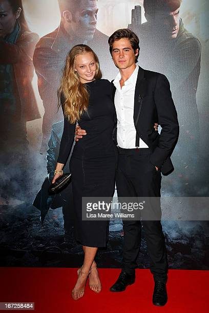 Esther Cronin and Piers Hampton arrives at the Australian premiere of 'Star Trek Intro Darkness' at Event Cinemas on April 23 2013 in Sydney Australia