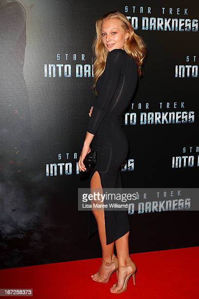 Esther Cronin arrives at the Australian premiere of 'Star Trek Intro Darkness' at Event Cinemas on April 23 2013 in Sydney Australia