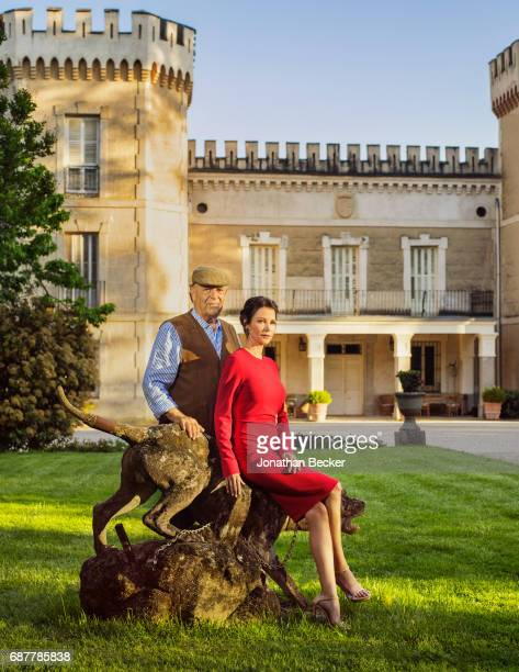 Esther Dona and Carlos Falco are photographed for Vanity Fair Spain on May 27 2016 at Palacio el Rincon in Madrid Spain