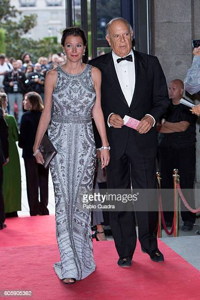 Esther Dona and Marquis of Grinon Carlos Falco attend the inaguration of the Royal Theatre Season on September 15 2016 in Madrid Spain