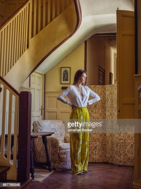Esther Dona is photographed for Vanity Fair Spain on May 27 2016 at Palacio el Rincon in Madrid Spain PUBLISHED IMAGE