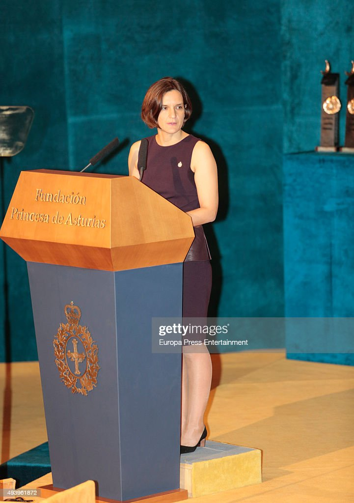 Esther Duflo attends the Princess of Asturias (Princesa de Asturias) award 2015 at the Campoamor Theater on October 23, 2015 in Oviedo, Spain.