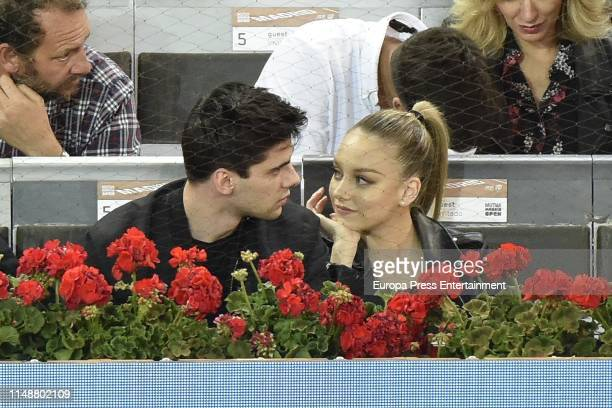 Esther Exposito and Alvaro Rico attends Mutua Madrid Open at Caja Magica on May 11 2019 in Madrid Spain