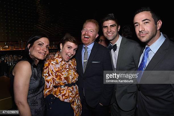 Esther Fein Lena Dunham Jesse Tyler Ferguson Justin Mikita and Ari Melber attend The New Yorker's White House Correspondents' Dinner Weekend PreParty...