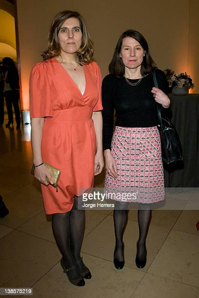 Esther Freud and Anna Freud attend the Lucian Freud Portraits exhibition at the National Portrait Gallery on February 8 2012 in London England