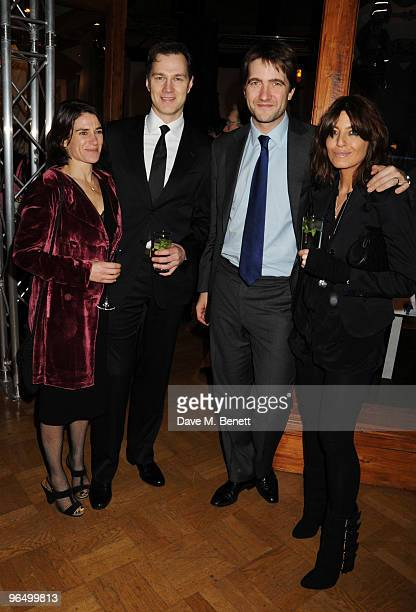 Esther Freud David Morrissey Kris Tykier and Claudia Winkleman attend the London Evening Standard British Film Awards 2010 at The London Film Museum...