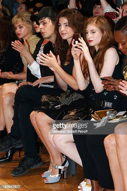 Esther Garrel and Agathe Bonitzer attend the Miu Miu show as part of the Paris Fashion Week Womenswear Spring/Summer 2014 at the Palais d'IENA on...