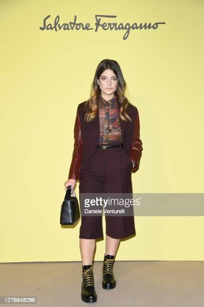 Esther Garrel attend the Salvatore Ferragamo show during during Milan Fashion Week Spring/Summer 2021 on September 26, 2020 in Milan, Italy.