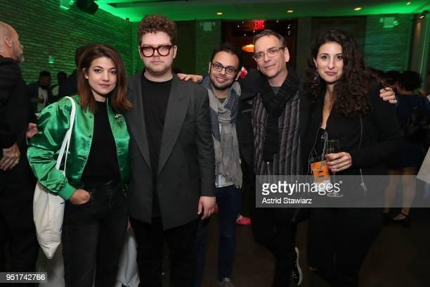 Esther Garrel Jack Dunphy Nathan Silver Matt Grady and Danelle Eliav attend the 2018 Tribeca Film Festival awards night after party on April 26 2018...