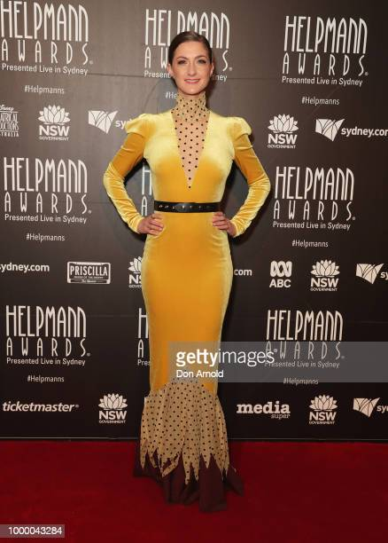 Michael Falzon and Jane Cho arrive at the 18th Annual Helpmann Awards at Capitol Theatre on July 16 2018 in Sydney Australia