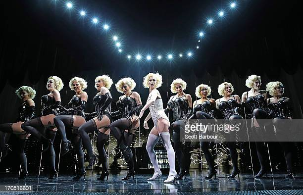 Esther Hannaford who plays Ann Darrow performs on stage during a King Kong production media call at the Regent Theatre on June 14 2013 in Melbourne...