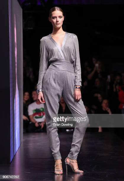 Esther Heesch walks the runway during the Maybelline Show 'Urban Catwalk Faces of New York' at Vollgutlager on January 18 2018 in Berlin Germany