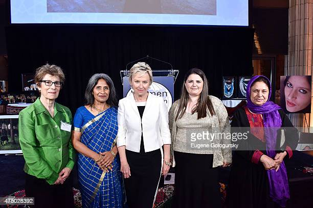 Esther Hyneman Sunita Viswanath Tina Brown Manizha Naderi and Mahira Ahmadzai attend the Women For Afghan Women Hosts 14th Anniversary Gala at...