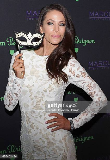 Esther Jackie Anderson arrives at the Dom Perignon Masquerade Party at The Star on August 8 2015 in Sydney Australia
