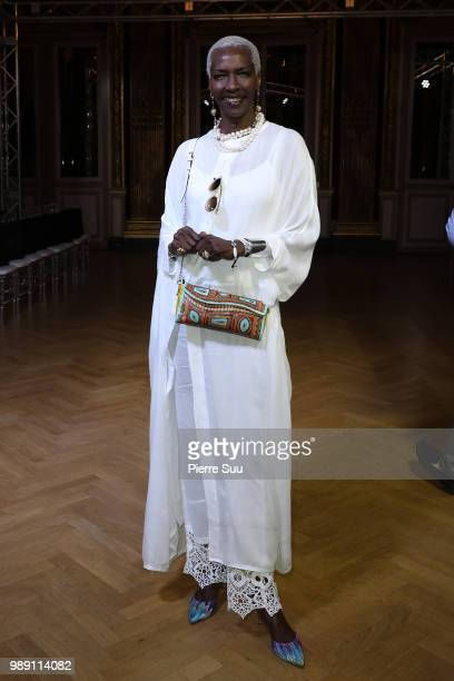 Esther Kamatari attends the Eva Minge Haute Couture Fall Winter 2018/2019 show as part of Paris Fashion Week on July 1 2018 in Paris France