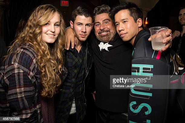 Esther Lafourcade musician Nick Jonas Flaunt editorinchief Luis Barajas and blogger Jared Eng attend Flaunt Magazine Hollywood Roosevelt Hotel and...