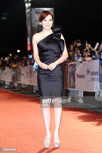 Esther Lau attends the red carpet of the 48th Golden Bell Award on October 25 2013 in Taipei Taiwan of China