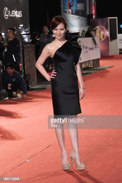 Esther Lau attends the red carpet of the 48th Golden Bell Award on Friday October 252013 in TaipeiChina