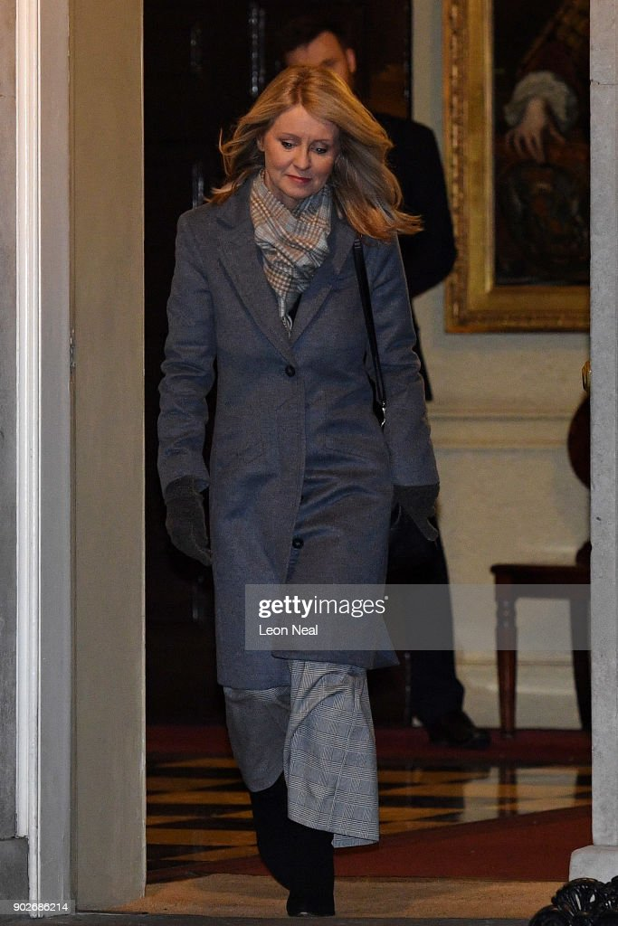 Esther McVey leaves 10 Downing Street after becoming Secretary of State for Work and Pensions as Prime Minister Theresa May reshuffles her cabinet on January 8, 2018 in London, England. Today's Cabinet reshuffle is Theresa May's third since becoming Prime Minister in July 2016 and was triggered after she sacked first secretary of state and close friend Damian Green before Christmas.