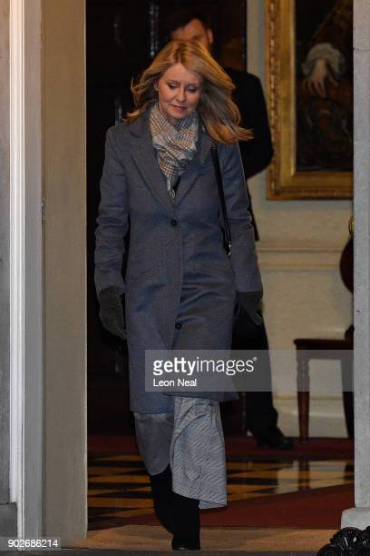 Esther McVey leaves 10 Downing Street after becoming Secretary of State for Work and Pensions as Prime Minister Theresa May reshuffles her cabinet on...