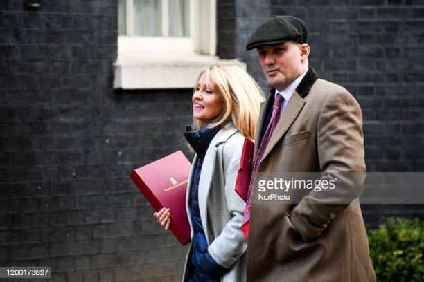 Esther McVey Minister of State for Housing and Jake Berry Northern Powerhouse Minister arrive at Downing Street in London on February 11 2020 Mr...