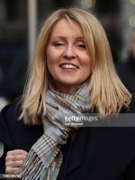 Esther McVey MP leaves the Park Plaza Hotel Westminster on December 10 2018 in London England The Government are believed to have delayed the...