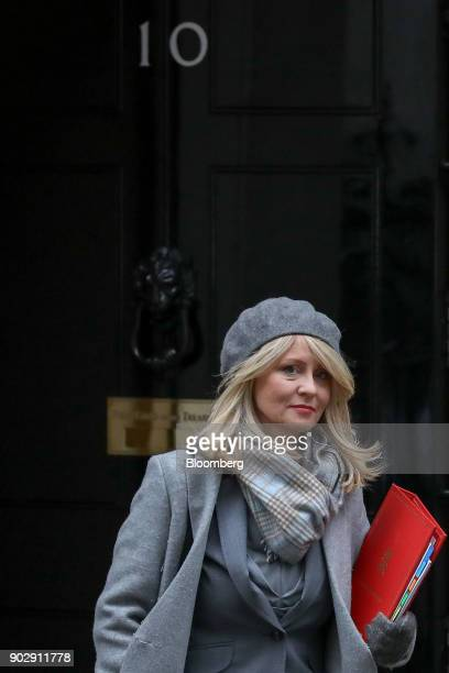 Esther McVey UK work and pensions secretary leaves following a weekly meeting of cabinet minister at number 10 Downing Street in London UK on Tuesday...