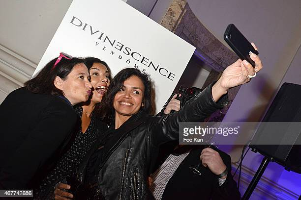 Esther Meyniel Anais Baydemir and Laurence Roustandjee attend the 'Diamond Night by Divinescence Vendome' Harumi Klossowska Jewellery Exhibition...