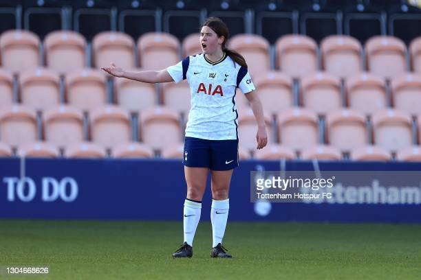 Esther Morgan of Tottenham Hotspur during the Barclays FA Women's Super League match between Tottenham Hotspur Women and Everton Women at The Hive on...